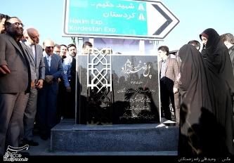 مراسم رونمایی از نامگذاری پل تقاطع بزرگراه حکیم-کارگر شمالی به نام شهید رضایی نژاد_5